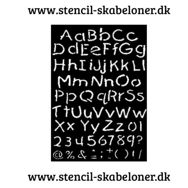 Alfabet stencils - store og små bogstaver