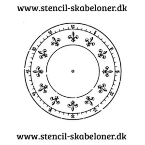 fransk urskive stencil