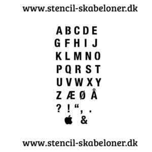 """Helvetica"" -Alfabet stencil"