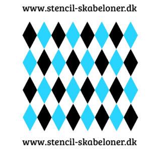 Stencil med harlekin terne til dekoration af møbler