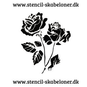 Shabby chik rose stencil til flotte dekorationer på malede møbler, vægge, hjemmelavede skilte