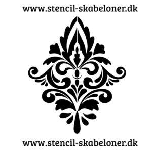 damask mønster stencil til hjemmelavet tapet