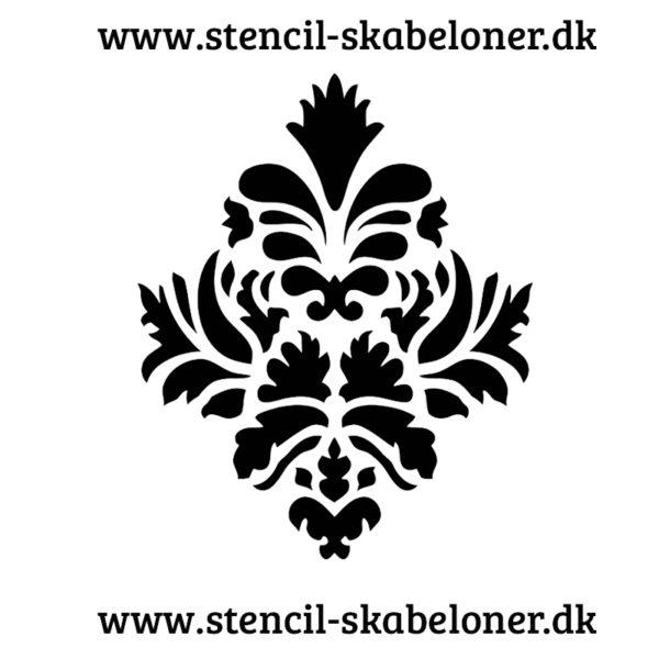 Damask mønster stencil til dekoration af møbler, vægge, malerier og scrapbooking