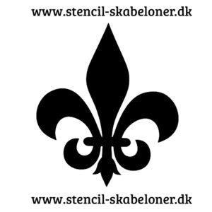 FLEUR-DE-LIS - stencil - FL5