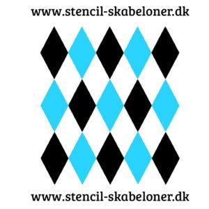 stencil med harlekin tern