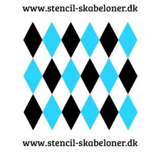 harlekin stencil 27,62 x 14,53
