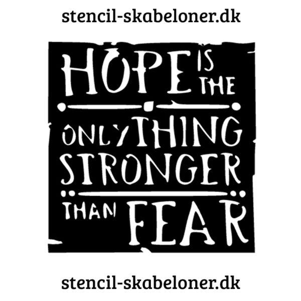 citat stencil - hope