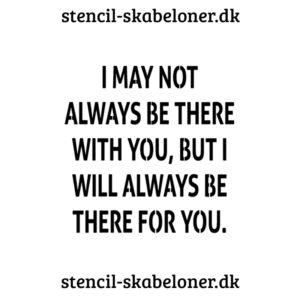 lækker citat stencil - brug den til hjemmelavde skilte