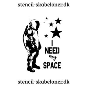 fed citat stencil - i need my space