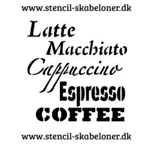kaffe latte stencil
