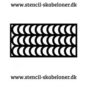 mønster stencil med buer