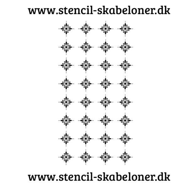 Mønster stencil.