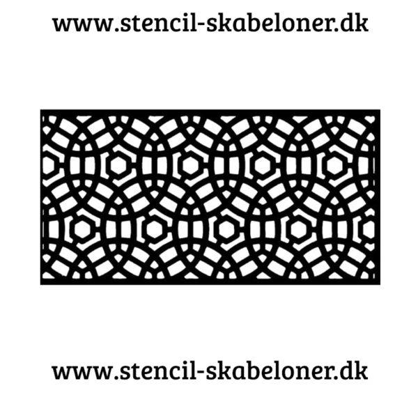 Mønster stencil til krestive ting. Malede møbler. scrapbooking, malerier og meget andet sjovt