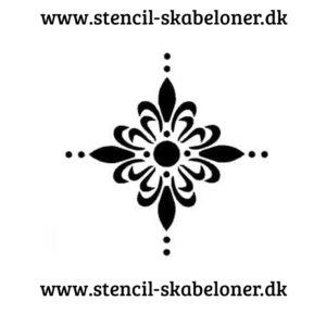 mønster stencil 1 enkelt blomst