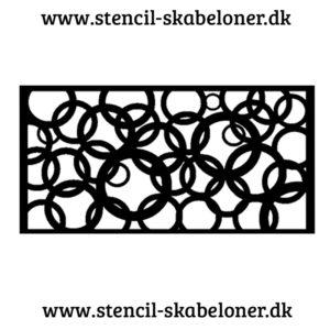 Mønster stencil med cirkler