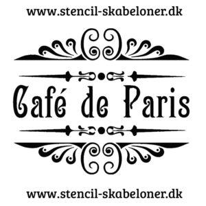 flot fransk cafe stencil