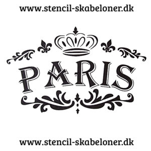 shabby chic stencil - paris