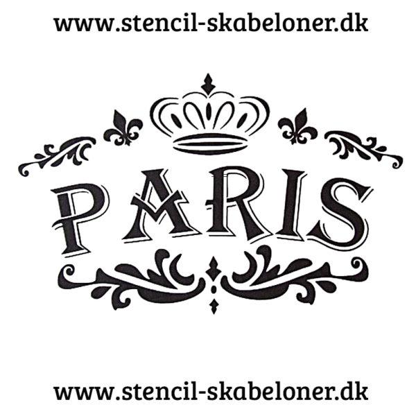 shabby chic stencil - paris