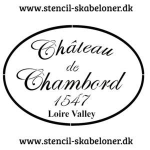 Shabby chic stencil - Chateau de Chambort