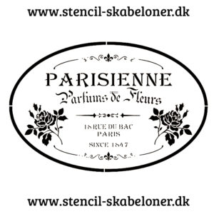 Flot fransk inspireret stencil