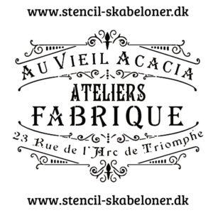 fransk landstil stencil