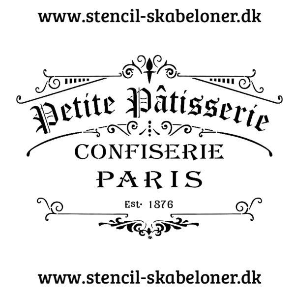 flot fransk stencil