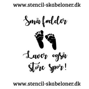 sødt baby citat - stencil til skilt eller væg