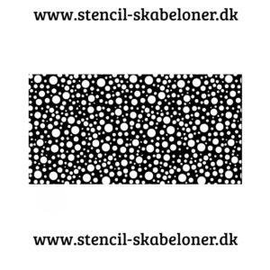 Stencil med prikker i forskellige størrelser