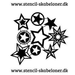 super fed stjerne stencil