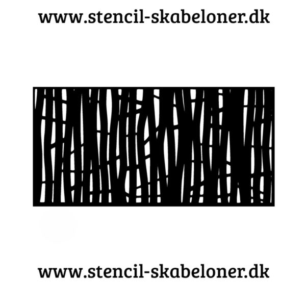stencil med træmønster