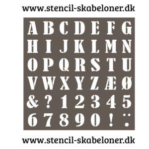 Stencils skrift A-Z stencil - skabelon