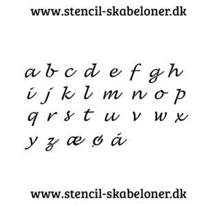 Lusinda stencil - små bogstaver