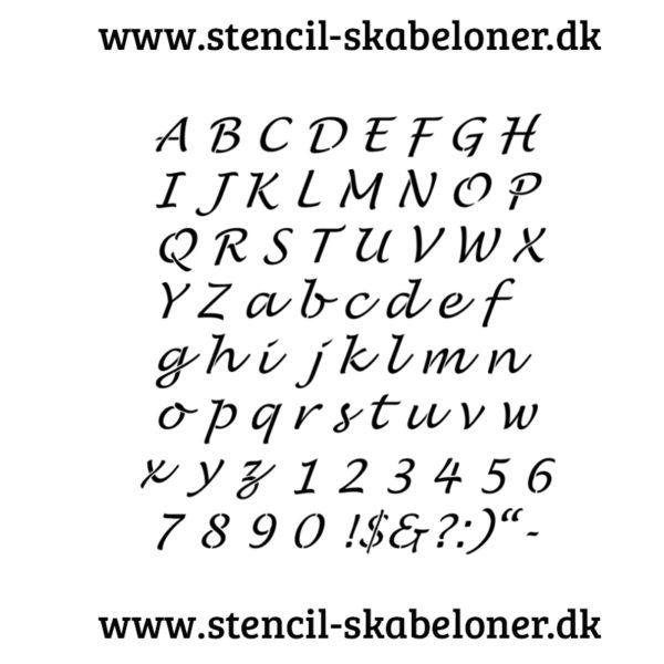 Lusinda stencil stor og små bogstaver