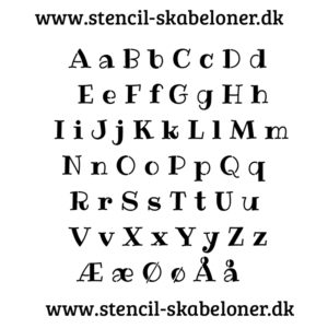Rip Eye bogstav stencil - store og små bogstaver