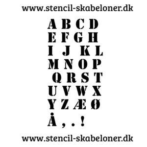 10 cm bogstaver - stencils skrifttypen