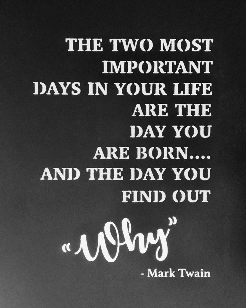 Citat stencil med Mark Twain citat