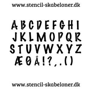 marker - alfabet stencil