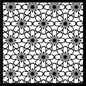 Blomster stencil nr 5