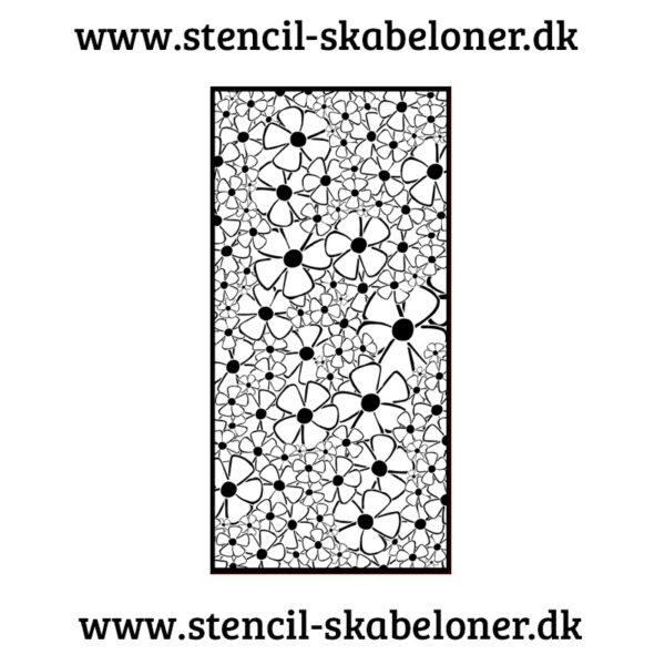Unik stencil - forskellige blomster