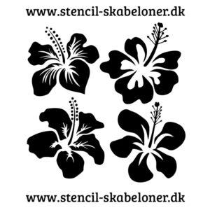 lotus blomst stencil 4 stk