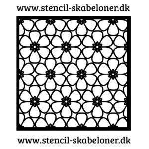 Blomst - stormønstret stencil