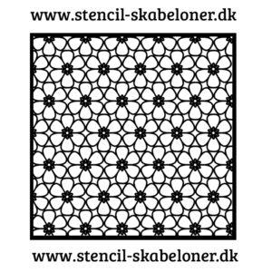 småmønstret Blomster stencil
