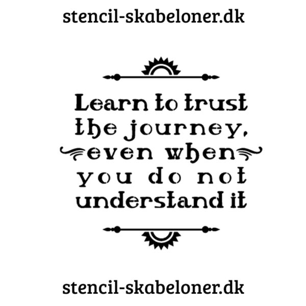 earn to trust 2 - citat stencil