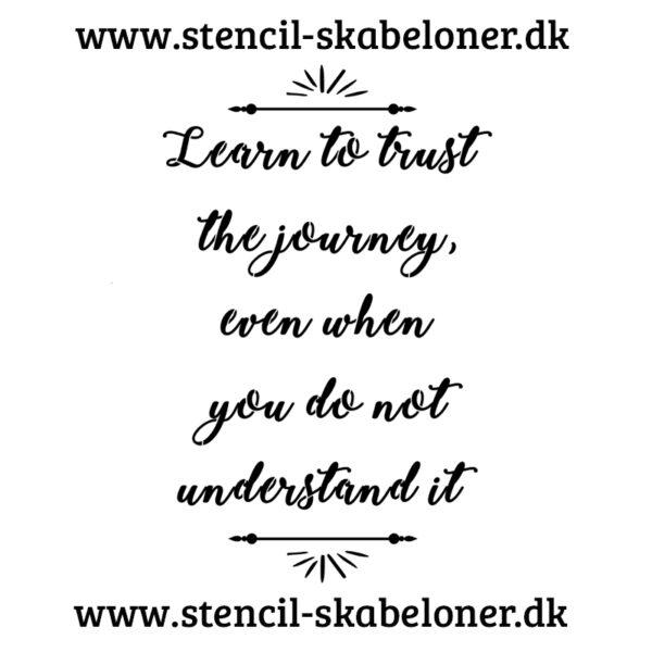 Citat stencil - learn to trust 3
