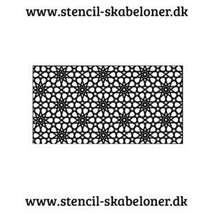 Mønster stencil med stjerner