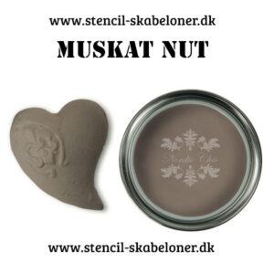 Muskat nut er en som navnet siger, nødde brun kalkmaling