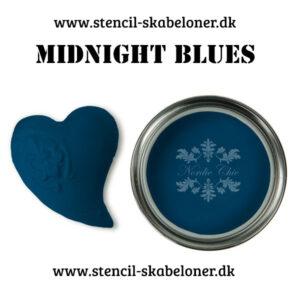Midtnight blues er en meget rig blå klkmaling. Farven har høj intensitet