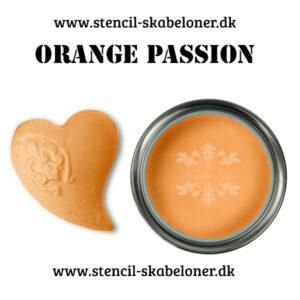 Orange kalkmaling - passion er det rette ord for denne varme orange farve. til dig der elsker friske farver til dine malede møbler