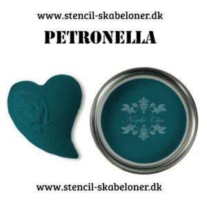 Patronella er en smuk petroleumsfarvet kalkmaling - dyb og rig på pigmenter.