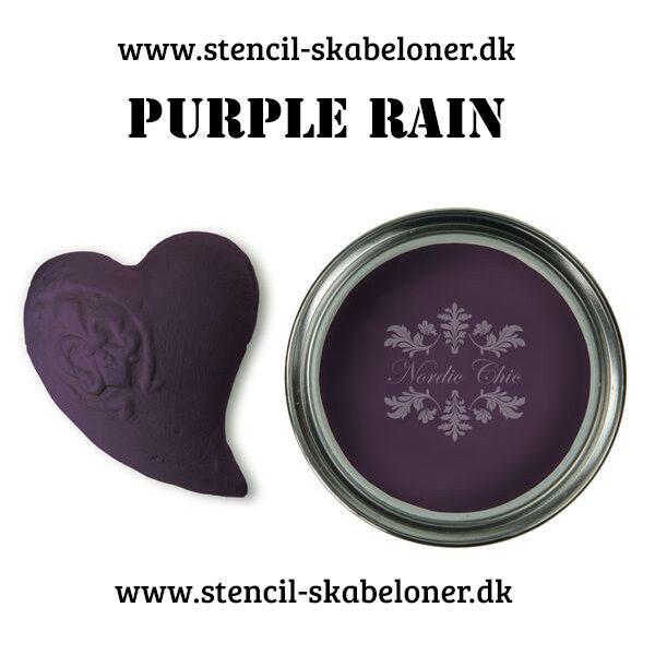 Purple Rain er en dyb lilla og super rig farve igen i kalkmalingens Boheme farve skala. Er farve med en fed attitude